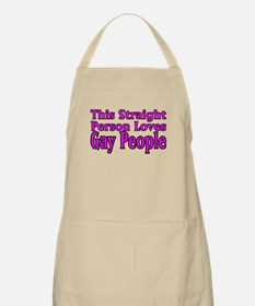 Loves Gay People BBQ Apron