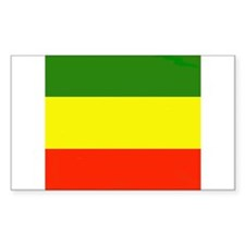 rasta Rectangle Decal