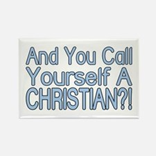 So Called Christian Rectangle Magnet