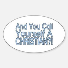 So Called Christian Oval Decal