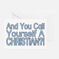 So Called Christian Greeting Card