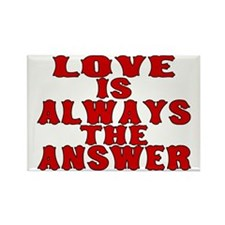 Love Is The Answer Rectangle Magnet