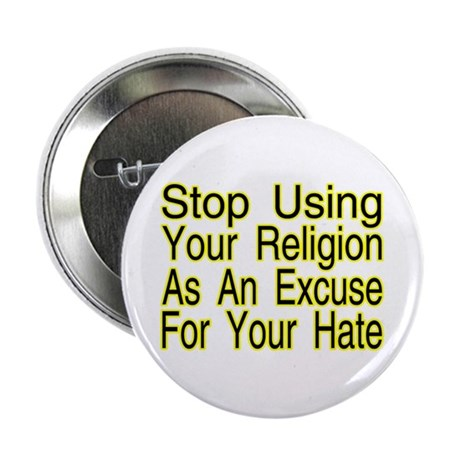 """Stop Using Religion 2.25"""" Button"""