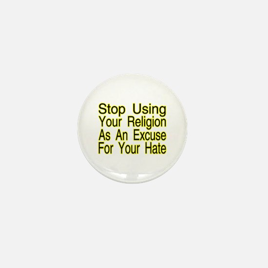 Stop Using Religion Mini Button (100 pack)