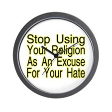 Stop Using Religion Wall Clock