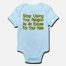 Stop Using Religion Infant Bodysuit