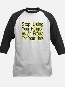Stop Using Religion Kids Baseball Jersey
