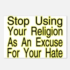 Stop Using Religion Postcards (Package of 8)