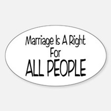 Marriage For All Oval Decal