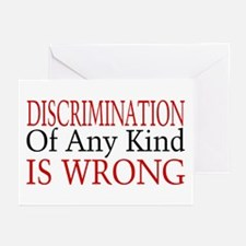 Discrimination Is Wrong Greeting Cards (Pk of 20)