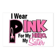 I Wear Pink For My Sister 19 Postcards (Package of