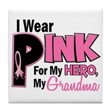 I Wear Pink For My Grandma 19 Tile Coaster