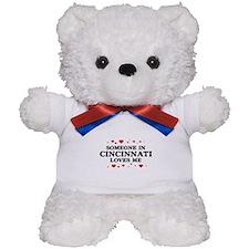 Loves Me in Cincinnati Teddy Bear
