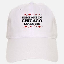 Loves Me in Chicago Baseball Baseball Cap