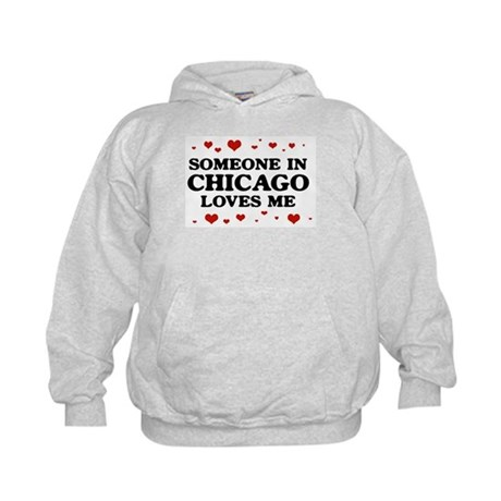 Loves Me in Chicago Kids Hoodie