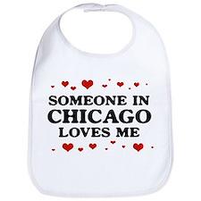Loves Me in Chicago Bib