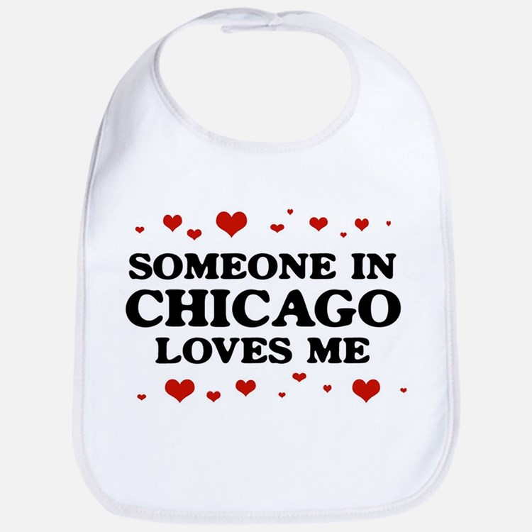 Loves Me in Chicago Bib