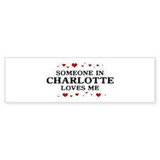 Loves Me in Charlotte Bumper Car Sticker