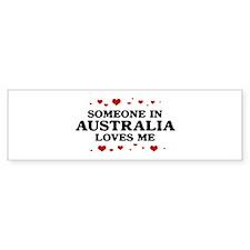 Loves Me in Australia Bumper Bumper Sticker