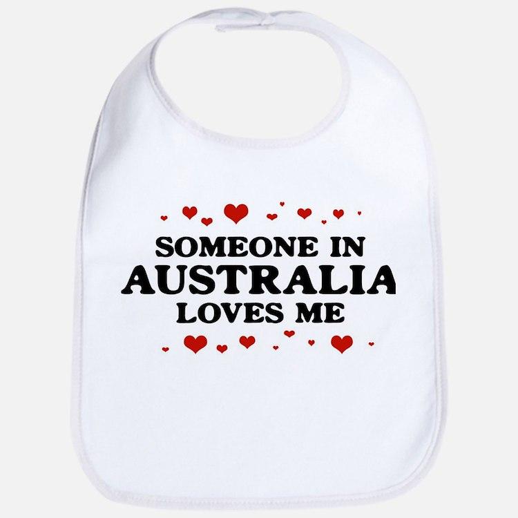 Loves Me in Australia Bib