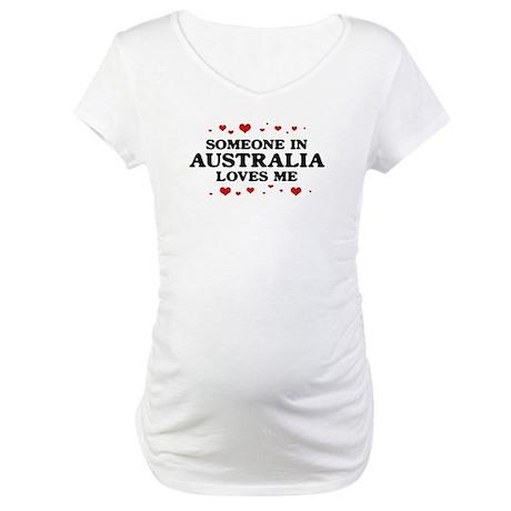 Loves Me in Australia Maternity T-Shirt