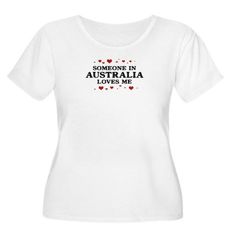 Loves Me in Australia Women's Plus Size Scoop Neck