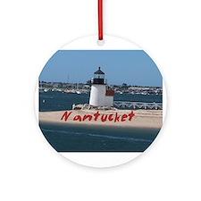 Brant Point Nantucket Ornament (Round)