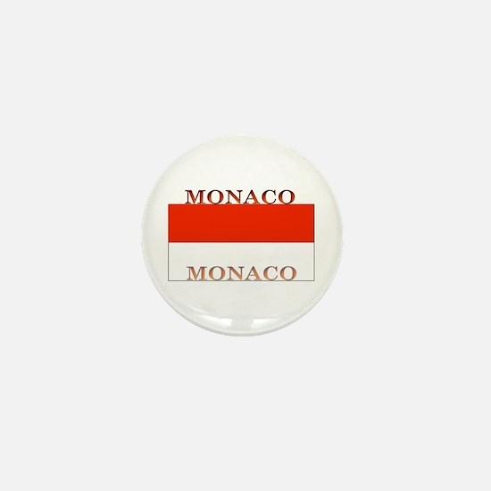 Monaco Monegasque Flag Mini Button