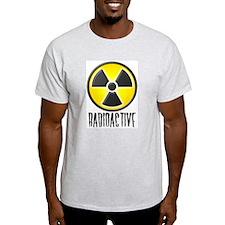Radioactive Lab Wear Logo Ash Grey T-Shirt