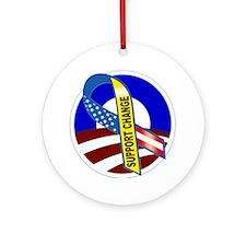 Barack Obama -- Support Change Ornament (Round)