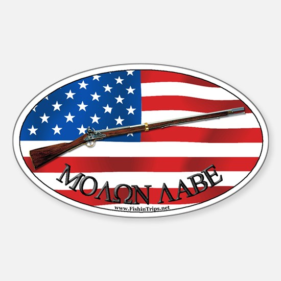 Molon Labe Musket Oval Decal