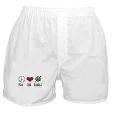 Peace Love Baseball Boxer Shorts