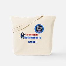 'Police Retirement Designs. Tote Bag
