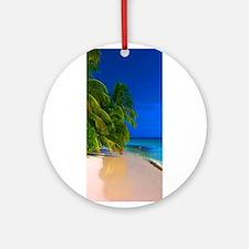 beautiful beach Ornament (Round)