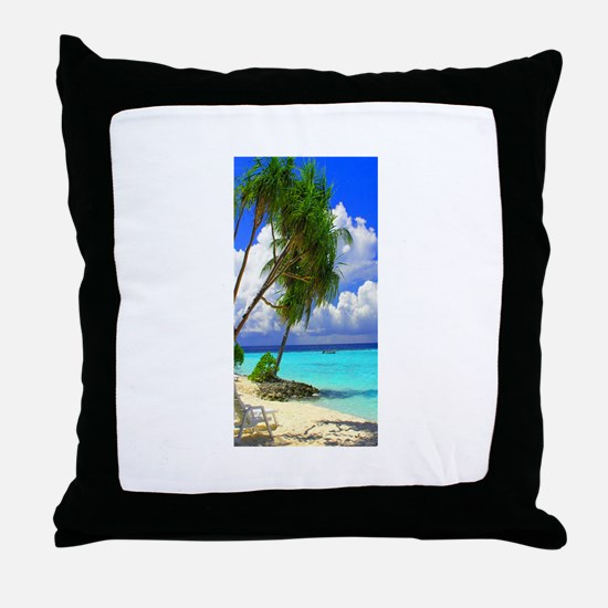 sunnybeach Throw Pillow