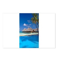 beach blue Postcards (Package of 8)