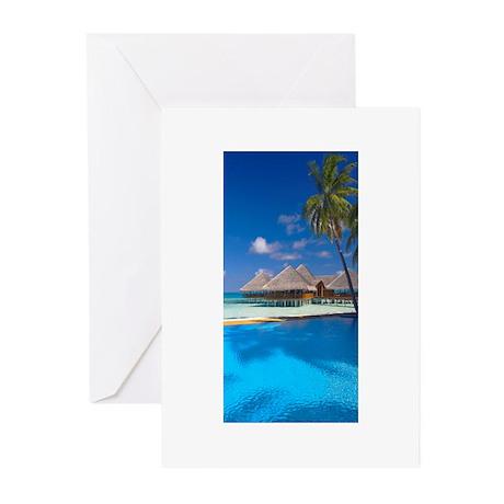 beach blue Greeting Cards (Pk of 20)