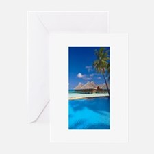 beach blue Greeting Cards (Pk of 20)