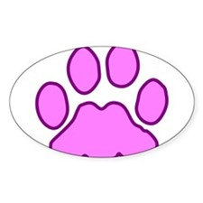 Pink Paw Oval Decal