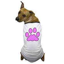 Pink Paw Dog T-Shirt