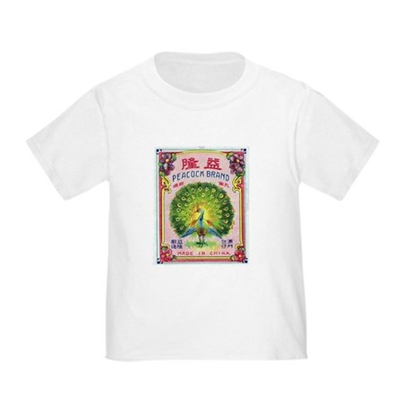 Peacock Fireworks Toddler T-Shirt