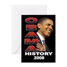 Obama History Greeting Card