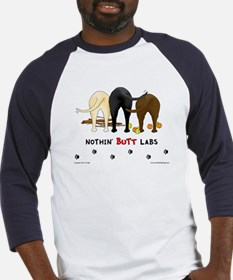 Labrador Butts with Sticks/Balls Baseball Jersey