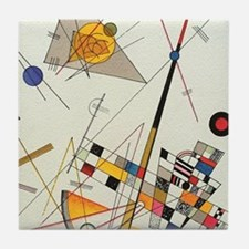 Delicate Tension by Wassily Kandinsky Tile Coaster