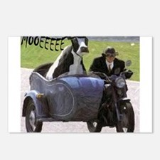 Cow in Sidecar Postcards (Package of 8)