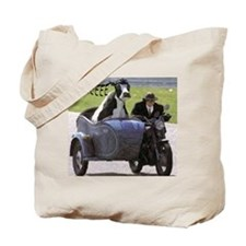 Cow in Sidecar Tote Bag
