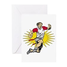 Flag Football Player Greeting Cards (Pk of 20)