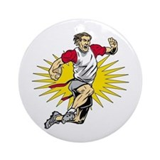 Flag Football Player Ornament (Round)