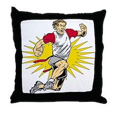 Flag Football Player Throw Pillow