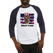Great Dane RED WOOF & BLUE Baseball Jersey